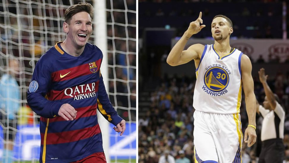 stephen curry sends leo messi a signed jersey