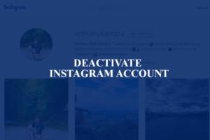 deactivate instagram account