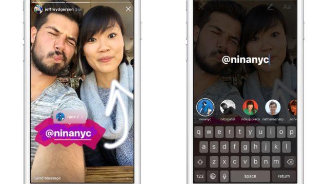 tag friends in instagram stories